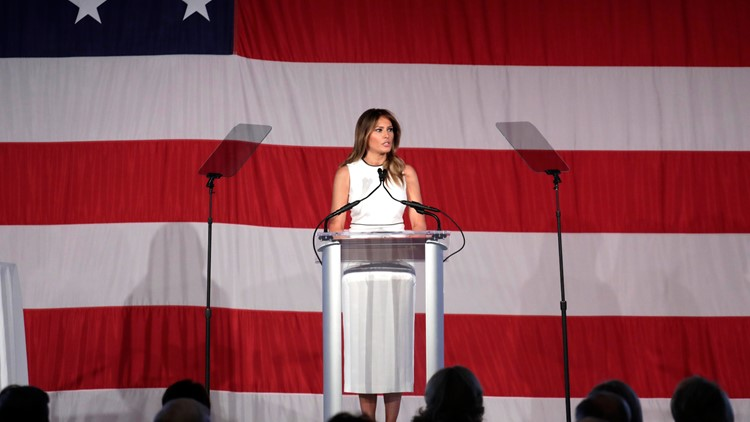 First Lady Melania Trump honored with 2020 Woman of Distinction award