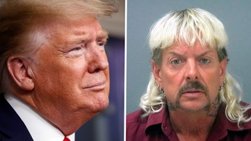 President Trump jokes about a pardon for 'Tiger King' Joe Exotic: 'I'll take a look'
