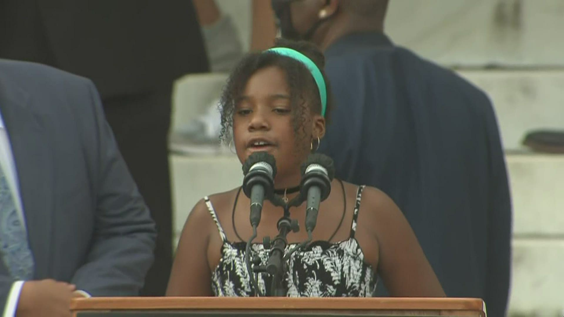 Mlk Jr S Granddaughter Delivered A Fiery Speech At The March On Washington Wfaa Com